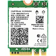 OKN WiFi 6 AX200 802.11ax WiFi Card 2400Mbps 5GHz and 574Mbps 2.4GHz Wireless Module for Laptop Desktop with Bluetooth 5.1, Windows 10 64bit and Linux, M.2/NGFF 2230