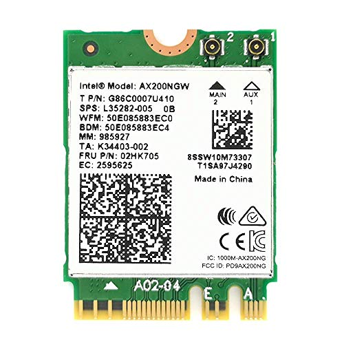 OKN WiFi 6 AX200 802.11ax WiFi Card 2400Mbps 5GHz and 574Mbps 2.4GHz Wireless Module for Laptop Desktop with Bluetooth 5.0, Windows 10 64bit and Linux, M.2/NGFF 2230
