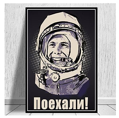 JCYMC Rompecabezas De 1000 Piezas Carteles De Yuri Gagarin De Héroes Espaciales Arte para Adultos Juegos para Niños Juguetes Educativos Uf68Vw