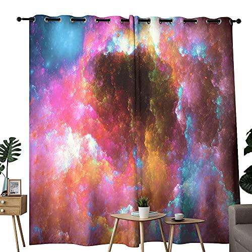 Cortinas coloridas para exteriores con aislamiento térmico para oscurecer la habitación, bloqueando el sol, para dormitorio, juego de 2 132 x 157 cm