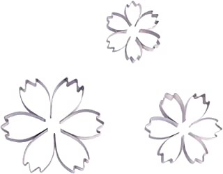 ESCORA 2 Inch Small Cosmos Flower Cookie Cutter Set – 3 Piece –Stainless Steel – Sugarcraft Cutter