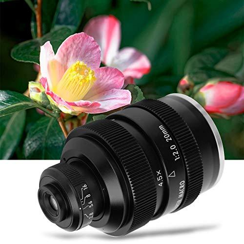 Lente Super Macro de Gran Apertura de 20 mm F2 - Lente de Enfoque Manual de Aleación de Aluminio - para Fotografía de Insectos y Flores - para Cuerpo de Cámara SLR Nikon F Mount