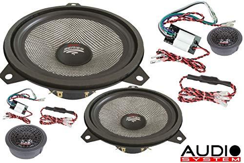 Audio System X-ION 165 E46–Koaxiallautsprecher fürs Auto, Schwarz und Gelb