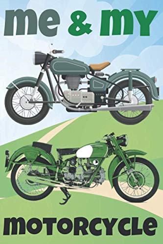 ME & MY MOTORCYCLE! Grid and Lined Journal A5 with Alphabetical Index + 5 Year Calendar Overview 2021-2025 + Numbered 172 Pages: Smart All-Purpose ... for Motorcycler Biker Chopper Motor Rider Fan