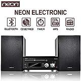 Neon Electronic- HiFi System Dockingstation CD Player Lautsprecher Musik Spieler (MCB1515D)