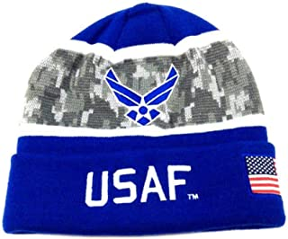 Icon Sports Group Inc. U.S. Armed Forces Military Camo/Solid Beanie Hat Winter Ski Cap