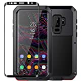Galaxy S9 Case,Tomplus Armor Tank Aluminum Metal Shockproof Military Heavy Duty Protector Cover Hard Case for Samsung Galaxy S9 (Black)