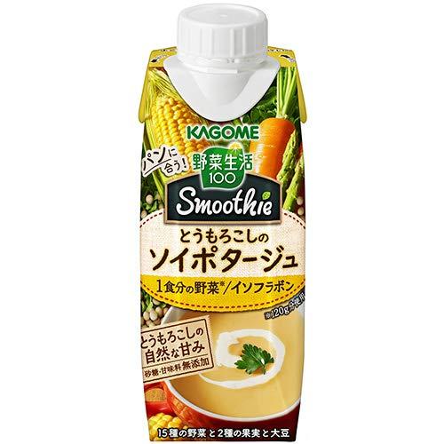 カゴメ 野菜生活100 Smoothie(スムージー) とうもろこしのソイポタージュ 250g紙パック×12本入×(2ケース)