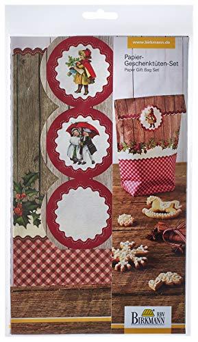 Birkmann 442283 Papiergeschenktüten-Set Winter Poesie