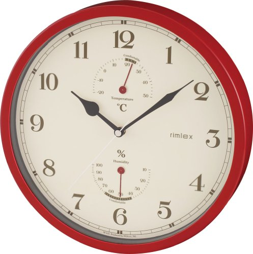 NOA Econic (エコニック)掛け時計 レッド W-533 R