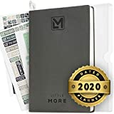 "2020 Daily Organizer Planner in Protect Box - Full Year Dated Productivity Planner for Achieve Goals - A5 Vegan Leather 5.5""x8.5' - Calendar Stickers 2020"