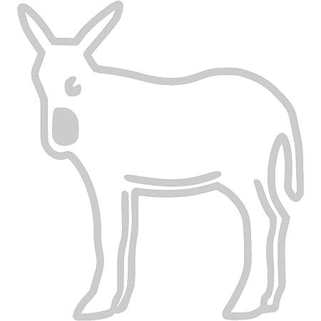 Fahnenmax Autoaufkleber Sticker Spanien Katalonien Esel Aufkleber Auto