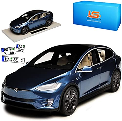 LS Collectibles Tesla Model X Dunkel Grau Ab 2015 1 18 Modell Auto