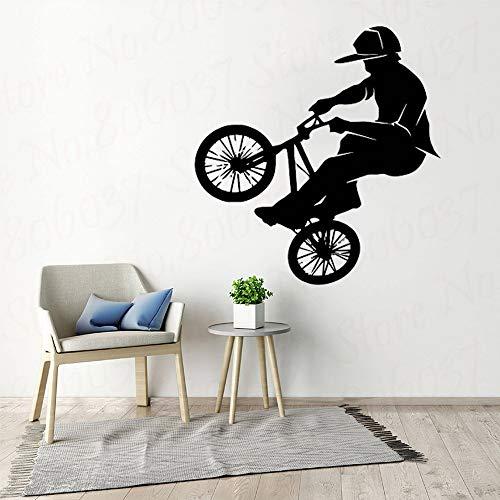 yaofale Mode Vinyl PVC Wandtattoo Fahrrad Fahrrad BMX Sport Supreme Wand Art Deco Familie Wohnzimmer Dekoration