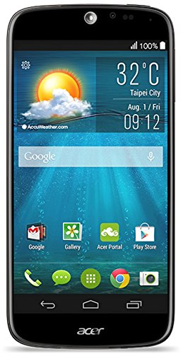 Acer Liquid Jade Plus Dual-SIM Smartphone (12,7 cm (5 Zoll) Zero-Air-Gap IPS HD-Display, 13 Megapixel Kamera, Quadcore Prozessor 1,3GHz, 2GB RAM, 16GB interner Speicher, Gorilla Glass 3, Android 4.4. Kitkat ) schwarz