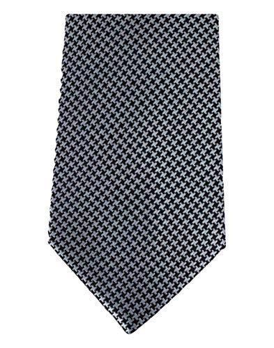 David Van Hagen Noir/Argent poule cravate de