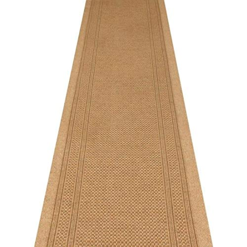 WDC ONLINE eXtreme® Romano Beige - Long Hall & Stair Carpet Runner - 66cm wide choose your own size in 1ft(foot) lengths