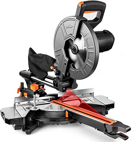 TACKLIFE Miter Saw, 10-Inch Sliding Miter Saw with Double...