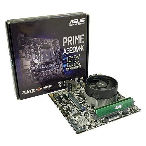ADMI CPU moederbord bundel: AMD Ryzen 3 2200G met Radeon Vega 8 Graphics, ASUS Prime A320M-K moederbord, 2400Mhz DDR4 RAM