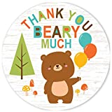 Woodland Bear Thank You Beary Much Stickers -...