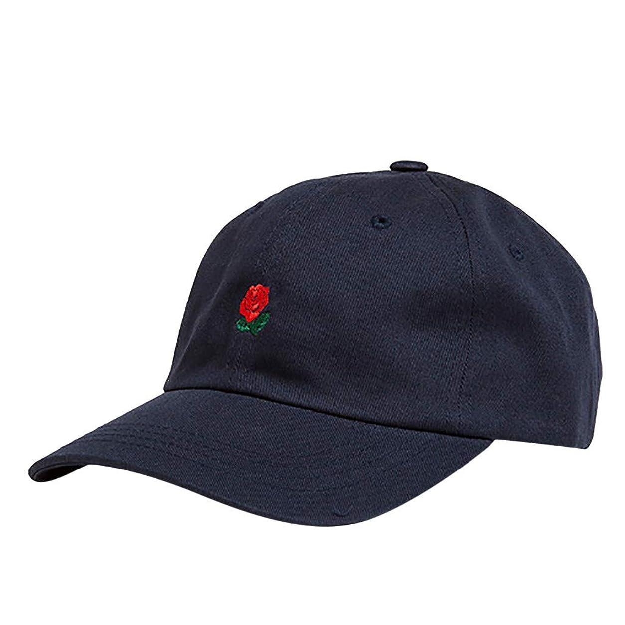 ブローサポート広くキャップ メンズ 大きいサイズ Masinalt 太陽の帽子 バラ 刺繍 帽子 日焼け止め 韓国語 バージョンレ ジャー バラHip Hop風 ハット キャップ 男女兼用 キャップ 野球帽