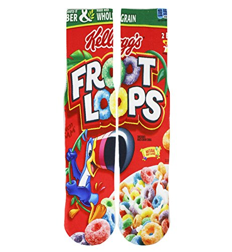 Benefeet Sox Mens Boys Funny Crazy Socks Cool Funky 3D Print Graphic Character Athletic Sports Novelty Tube Socks Gift Fruit Loops