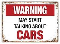 Start Talking About Cars ティンサイン ポスター ン サイン プレート ブリキ看板 ホーム バーために