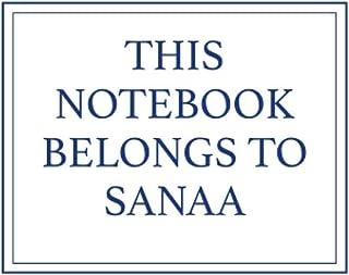 This Notebook Belongs to Sanaa