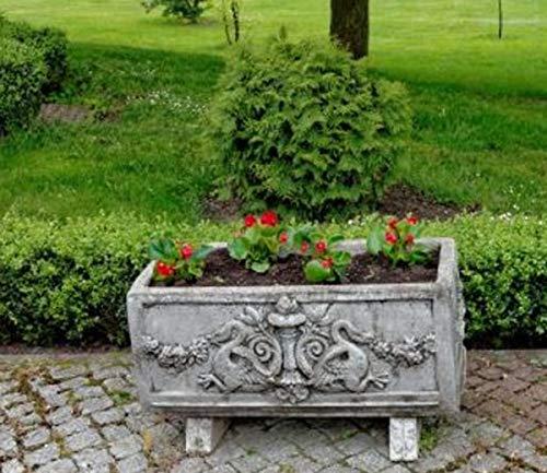 Casa Padrino Maceta barroca Gris Antiguo 36 x 81 x H. 43 cm - Maceta Cuadrada de Estilo Barroco -...