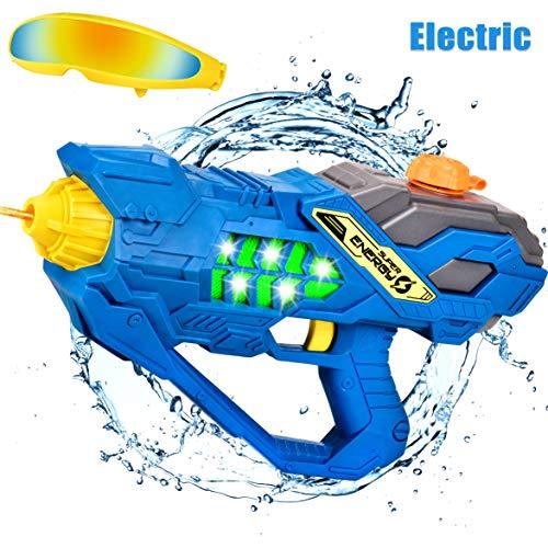 balnore Elektrische Wasserpistole mit Brille Wasserspritzpistolen Kinder Automatischer Spielzeug Wassersprühpistole Sommer Kinderspielzeug für Jungen und Mädchen