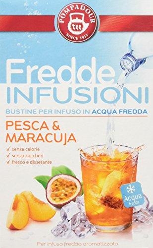 Pompadour Fredde Infusioni Pesca & Maracuja - 18 filtri - (confezione da 3)