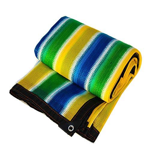 WZNING Cuatro Franjas de Color Resistente al Desgaste Protector Solar Anti-UV Utiliza for huerto al Aire Libre del Patio de la azotea del Coche Durable y Protector (Color : Colorful, Size : 2 * 2)