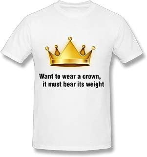 XH Men's Beautiful Vector Crown.png T Shirt - Originality Tshirt White