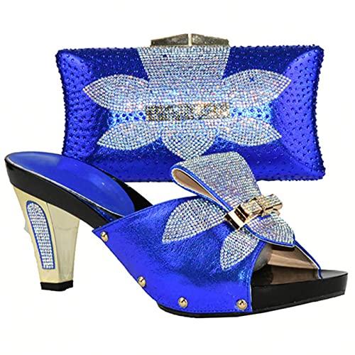 ZXCN Conjunto de Zapatos y Bolsos de Mujer en Italia Zapatos Italianos...