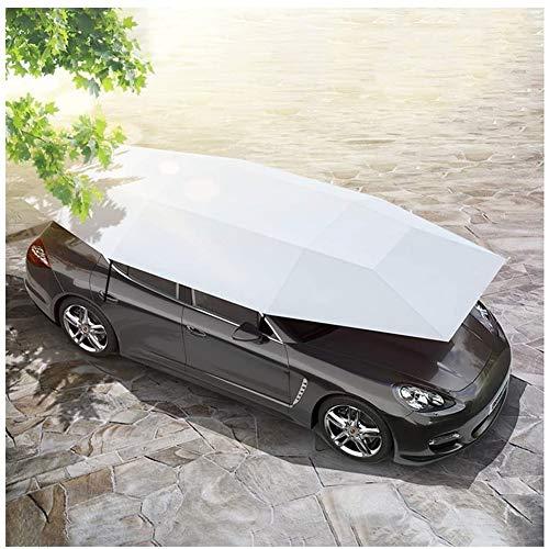 Carpa Coche Tienda automática del coche cubierta exterior Cochera portátil Sombra móvil automático de protección solar a prueba de viento del pabellón Antirrobo, 2 Color (Color: Gris, Tamaño: 4.5x2.3m