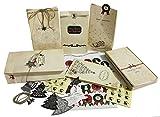 stabilen Papiertüten - 24 Papiertüten Weihnachten mit Boden + 44 Süße Weihnachtsaufkleber + 3M...