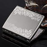 ALHJ Elegante Disegno A Viticcio Scatole di Sigarette Metalli Uomo,Moda Porta Sigarette Scatola,Tiene Fino A 20 Sigarettes