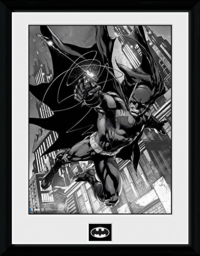 DC Comics Batman Comic Haken gerahmtes Foto, Mehrfarbig, 40,6x 30,5cm