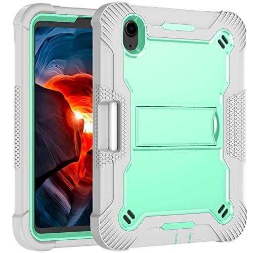 Tenfei Funda para el Nuevo iPad Mini 6 2021 de 8,3 Pulgadas Compatible con la Funda del iPad Mini 6Th Generation con Soporte y Soporte para el lápiz, Funda Protectora Resistente,Verde