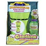 Gazillion Bubble Rush Bubble Blower Machine Bubbles for Kids, Purple/Green