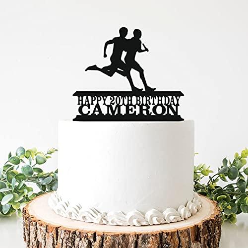 Adorno para tarta de boda de acrílico para hombre, para fiestas de despedida de soltera, aniversarios, cumpleaños y cumpleaños de 6 pulgadas