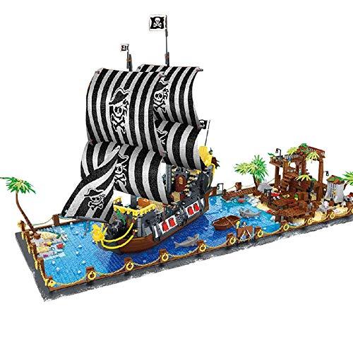aolongwl Bloques de construcción Nuevo 5937 Uds Pirata Booty Bay Modelo De Barco Juegos De Bloques De Construcción Creador Aventurero Barco Ladrillos Niños Juguetes Regalos