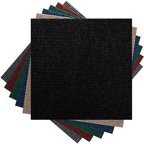 Premium Teppichfliesen Nadelfilz - 1m² - schwarz - selbstklebend