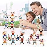 oAtm0eBcl IQ BUILDER丨Challenging IQ Games丨16Pcs Cute Figure Building Block Puzzle Stacking Balance Game Education Kids Toy丨Mental Exercises for Sharp Young Minds - 100% Child Safe … Multicolor