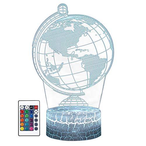 Lámpara de noche 3D con forma de globo de colores que cambian de decoración para sala de estar, cama, bar, los mejores regalos de dinosaurio, juguetes para niños y niñas