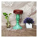 NZKW Candelabro de Campo francés, candelero Decorativo de Cristal Retro para Boda, Cena romántica a la luz de Las Velas, jardín (Color: B)
