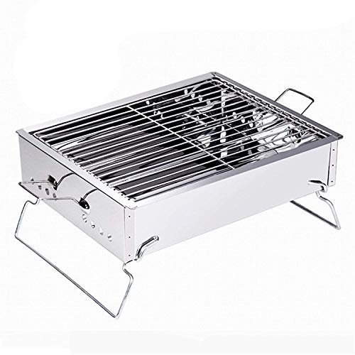 SJZLMB Bbq portable Charcoal Grill Portable Lightweight Simple Charcoal Grill Perfect Foldable Premium BBQ Grill Outdoor Garden Picnicking Camping 3-5 People