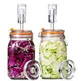 Jillmo Fermentation Kit, 1.5 Liter Fermentation Jar with Fermenting Weights and Airlocks, 2 Pack