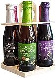 Coffret format carrousel de 6 bières fruitées (bières Lindemans cassis, framboise, pêche, cerise, pomme, faro)