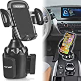 [Upgraded] Car Cup Holder Phone Mount Adjustable Automobile Cup Holder Smart Phone Cradle Car Mount for iPhone...